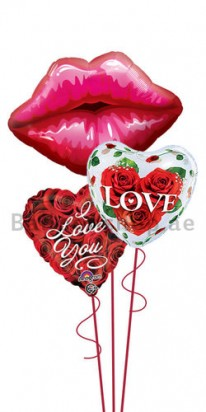 Kiss Me Darling Jumbo Valentines Balloon Bouquet