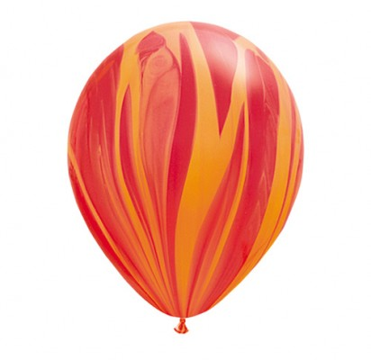 "11"" Red Agate Helium Latex Balloon"