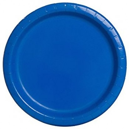 "8"" Royal Blue Normal Party Plates (16ct)"