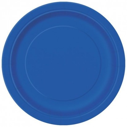 "7"" Royal Blue Normal Party Plates (8ct)"