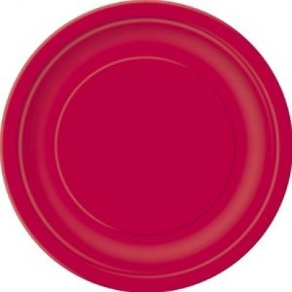 "7"" Ruby Red Normal Party Plates, (8ct)"