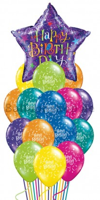 Shooting Star Birthday Madness Birthday Balloon Bouquet