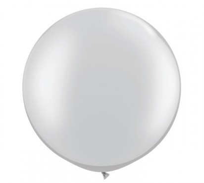 3ft. Silver Large Helium Balloon (90 cm)