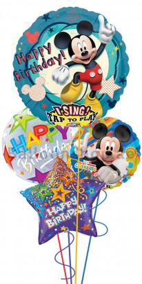 Mickey Mouse Clubhouse Singing Birthday Balloon Bouquet