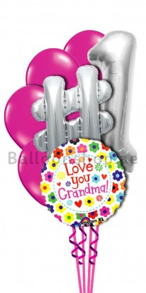 My Number One Grandmother Helium Balloon Bouquet