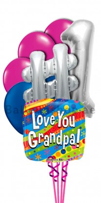Grandfather Number Onoe Helum Balloon Bouquet