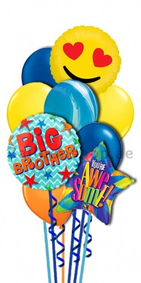Love You Big Borther Helium Balloon Bouquet