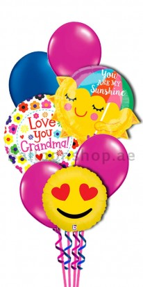 Love You Grandmother Helium Balloon Bouquet