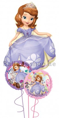 Mega Jumbo Sofia the First Kids Balloon Arrangement