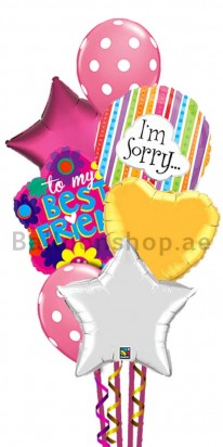 I am Sorry Colorful Balloon Bouquet