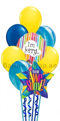 I am Sorry Awesome Balloon Bouquet