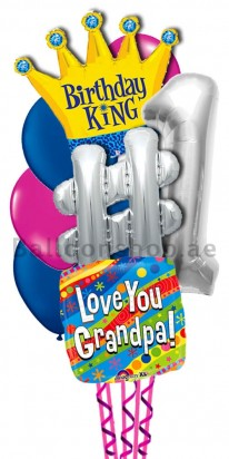 Grand Father Birthday King Balloon Bouquet