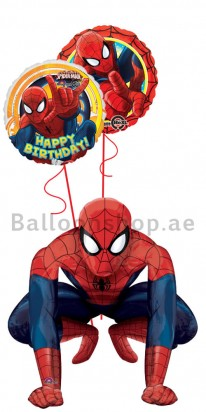 Ultra Jumbo Spiderman Birthday Air Walker Balloon Arrangement