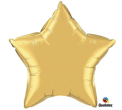 "20"" Metallic Gold Star Shape Helium Foil Balloon"