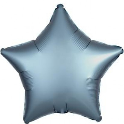 "19"" Steel Blue Star Helium Foil Balloon"