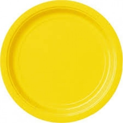 "7"" Sun Flower Yellow Normal Party Plates, (8ct)"