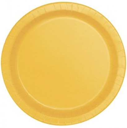 "8"" Sunflower Yellow Normal Party Plates (16ct)"
