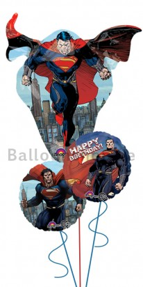 Superman Man of Steel Birthday Balloon Arrangement
