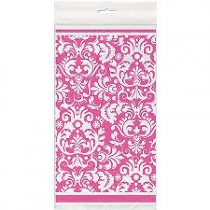 Pink Damask Table Cover
