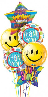 Mega Jumbo Big Smiles Thank You Foil Balloon Bouquet