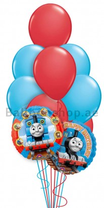 Thomas Birthday Foil Balloon Bouquet
