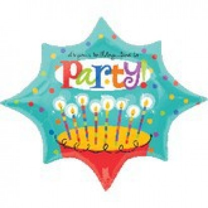 "29"" Time To Party Birthday Helium Foil Balloon"