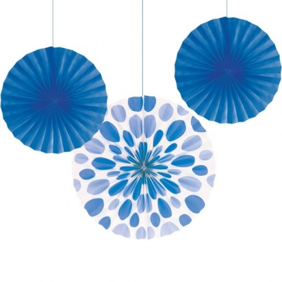 Tissue Fan Assortment Royal Blue (3cts)
