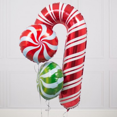 Christmas Sweeties Inflated Foil Bunch