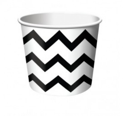 Stripe Black Cups (6 cts)
