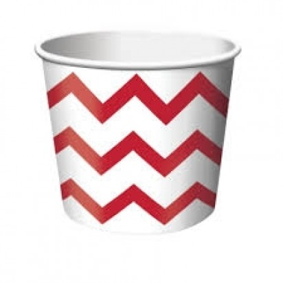 Stripe Red Cups (6 cts)