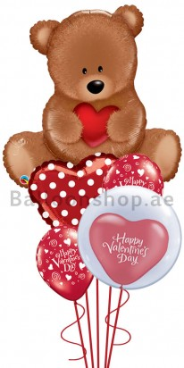 Mega Jumbo Valentine Charms Balloon Arrangement