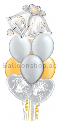 Wedding Bells Bouquet Balloon Arrangement