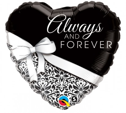 "18"" Always & Forever Helium Foil Balloon"