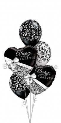 Wedding Balloon Bouquet (Damask)