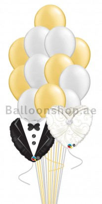 Bride & Groom Bouquet (14 Balloons)