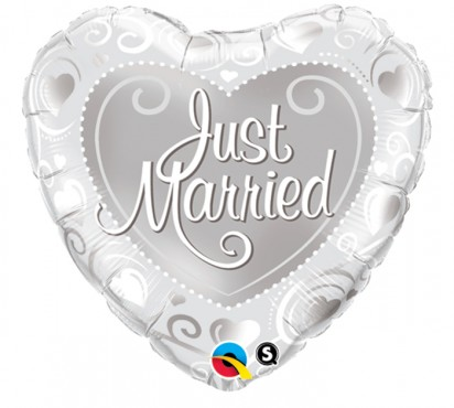 "18"" Just Married Helium Foil Balloon"