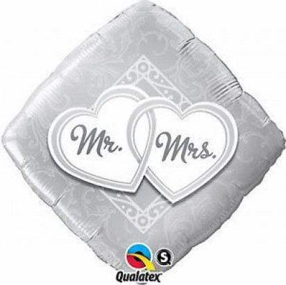 "18"" Mr. And Mrs. Helium Foil Balloon"