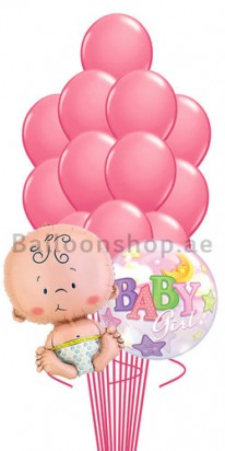 Baby Girl Bubble New Born Balloon Bouquet