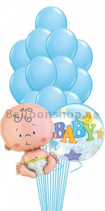 Baby Boy Newborn Balloon Bouquet