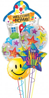 Jumbo Bouquet Welcome Home Charms Balloon Arrangement