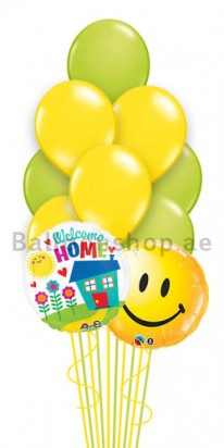 10 Balloons Welcome Home Smiley Balloons Bouquet