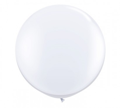 3' White Large Helium Balloon (90 cm)