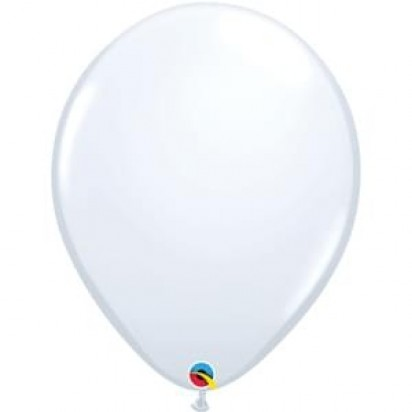 "16"" White Big Helium Latex Balloon"