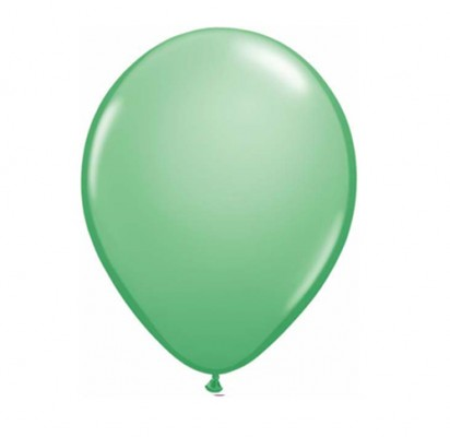 "11"" Winter Green Plain Helium Latex Balloon"