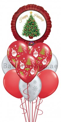 10 Balloons Christmas is Red Balloon Bouquet