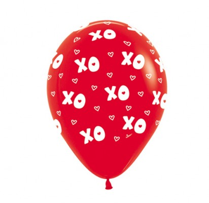 "11"" Love Around Helium Printed Latex Balloon"