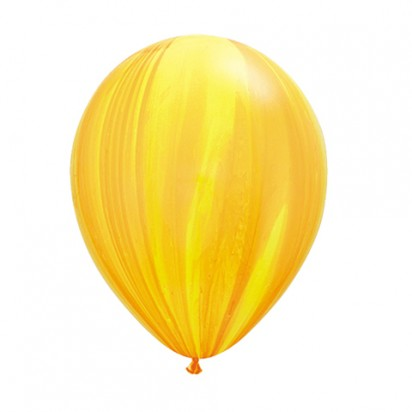 "11"" Yellow Orange Marble Helium Balloon"