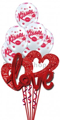 Mega Jumbo Pure Class - Valentine's Day Balloon Arrangement