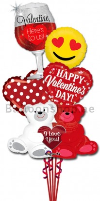 Ultra Jumbo Valentine's Day Balloon Arrangement