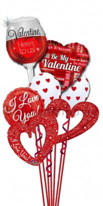 Mega Jumbo Pure Class, Valentine's Day Balloon Arrangement